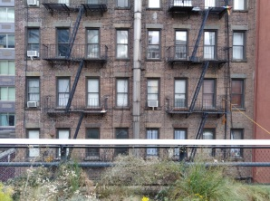 Fire stairs, The Highline, New York